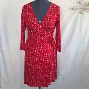 Old Navy Red Black White Polka Dot Dress